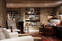 My Houzz: Meaghan and Trevor: Welland, ON - eclectic - basement - other metro - Esther Hershcovich
