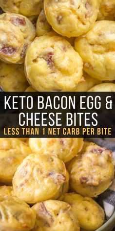 The perfect easy keto breakfast! Try these Keto Bacon Egg and Cheese Bites for a. The perfect easy keto breakfast! Try these Keto Bacon Egg and Cheese Bites for an easy grab and go breakfast! Less than one net carb per bite! Ketogenic Recipes, Diet Recipes, Recipes Dinner, Slimfast Recipes, Easy Keto Recipes, Dinner Ideas, Cheap Recipes, Recipes For Diabetics Easy, Keto Meals Easy
