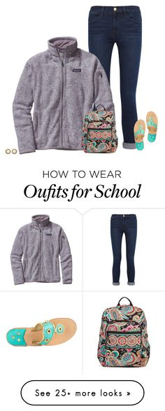 cute school outfit idea by secfashion13 on Polyvore featuring Frame Denim 4fcab8632
