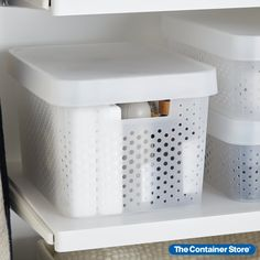With clean lines and sturdy functionality, our Infinity Plastic Storage Boxes with Lids are a sleek storage option. Organize toys, craft projects, bath items, work supplies and more. Contents stay beautifully concealed but accessible. Because these are plastic storage boxes with lids, they're stackable when filled and nestable when empty, helping maximize space in a kids room, office, bath, dorm or craft room. Room Organization, Storage Boxes With Lids, Plastic Box Storage, Storage Boxes, Scrapbook Room Organization, Small Closets, Dorm Organization, Diy Organization, Storage Options