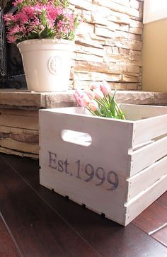 Diy Wood Crates | DIY antique wood crate | For the Home