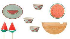 Kuchyňské doplňky s potiskem melounů dodají stolování šťávu.