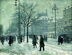 Paul Gustav Fischer (1860-1934) Jacobsen Square, Copenhagen - Google Search