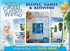 Tinker Bell, Periwinkle and their Fairy Friends have put together some fun activities for you to enjoy with the kids this summer in celebration of the upcoming release of SECRET OF THE WINGS: