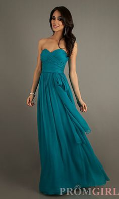 Floor Length Strapless Sweetheart Dress at PromGirl.com A-Line