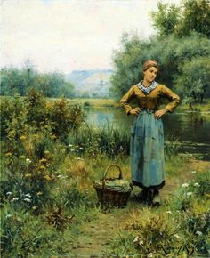 The Athenaeum - Girl in a Landscape (Daniel Ridgway Knight - )
