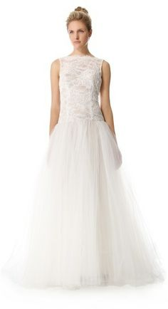 Theia Tulle & Lace Gown on shopstyle.com