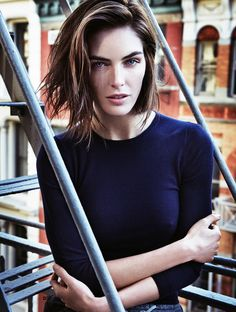 "http://media.vogue.com/files/""It happened really fast,"" says model Hilary Rhoda of her swingy, freshly shorn bob. ""I've had long hair my entire life, but in the past year, I've been pulling it back into a bun or ponytail every day."