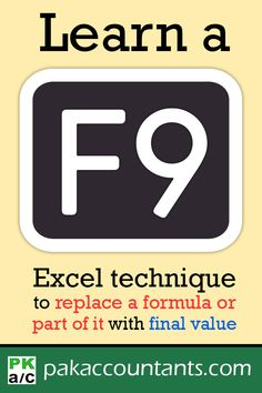 Learn how to replace a formula or part of a formula with its final value instantly using this technique Free tips, tricks, tutorials, dashboard templates, formula core book and cheat sheets Excel Cheat Sheet, Cheat Sheets, Excel Hacks, Computer Basics, Dashboard Template, Microsoft Excel, Microsoft Office, Resume Tips, Computer Technology