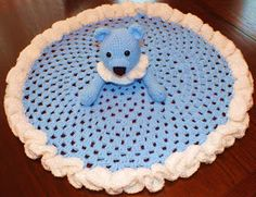 Connie's Spot© Crocheting, Crafting, Creating!: Free Teddy Bear Granny Circle Security Blanket Pattern©