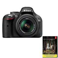 Nikon D5200 24MP DSLR w/ 18-55mm Lens (refurb) + Adobe Lightroom 5 $420 + Free Shipping