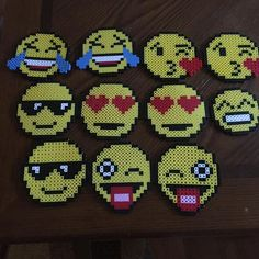 Emojis perler beads by ctcmore                                                                                                                                                      More