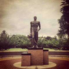 Spartan Statue at Michigan State #Padgram