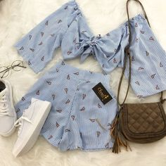 Perfect duo: Summer sets we want to wear now - Perfect Duo: Summer Outfits We Want to Wear Now – Moda it - Teen Fashion Outfits, Mode Outfits, Girly Outfits, Cute Fashion, Look Fashion, Outfits For Teens, Pretty Outfits, Fasion, Cute Summer Outfits