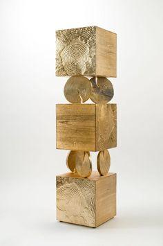 Tronchi Totem by Andrea Salvetti, Avant-Scene. Art Furniture, Furniture Design, Elisabeth, Natural Forms, Material Design, Modern Rustic, Installation Art, Art Forms, Decoration