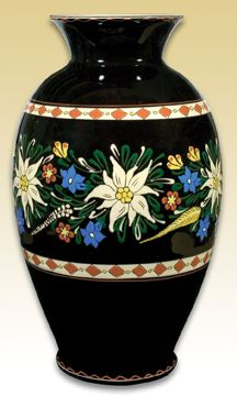 alpin flowers, my Swiss relative gave me some of this type of Swiss pottery.