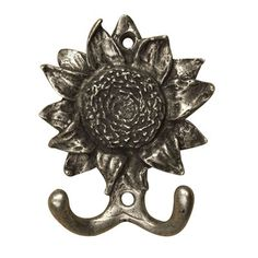 Anne at Home 427 Sunflower Hook  Never forget the finishing touch! Fashioned with the most delicate detail, the pewter hardware from Anne at Home is cra…