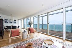 Hygge, Cornwall, Bookshelves, Property For Sale, Design Inspiration, House Design, Windows, Living Room, Houses