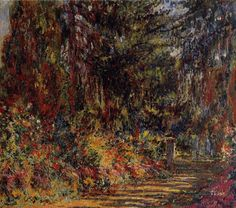Claude Monet — Path at Giverny, 1903, Claude Monet