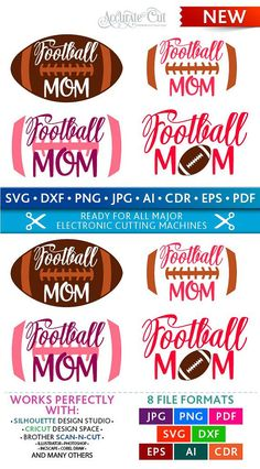 Mom Svg Football Mom