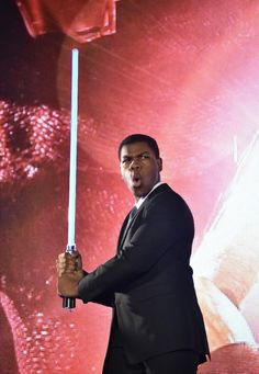 "British actor John Boyega during a promotional event around the last opus ""Star Wars"" in Tokyo. KAZUHIRO NOGI / AFP / File"