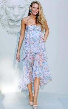 Blake Lively in floral dress