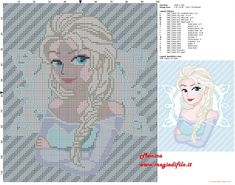 Queen Elsa - Frozen pattern by Monica