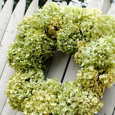 Dried Hydrangea Wreath square (you can use old frame)