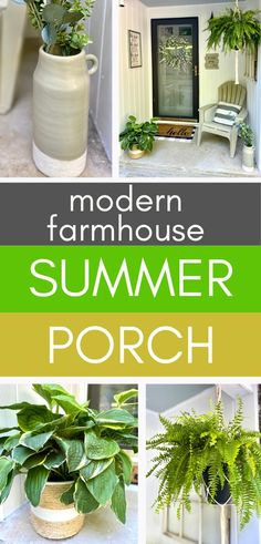 If you're looking for decorating ideas for your summer porch, here are some you'll love! You can create a modern farmhouse look on a tight budget, in a small space - or both! You'll love relaxing on your front porch this summer with just a few tricks! Come take a look how! #modernfarmhouse #farmhouse #summer #frontporch #decoratingideas #tightbudget #smallspace #signs #diy Farmhouse Budget, Modern Farmhouse, Farmhouse Decor, Farmhouse Ideas, Farmhouse Style, Summer Porch Decor, Porch Decorating, Decorating Ideas, Decor Ideas