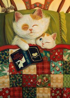 Children Illustration on Illustration Served, Artist Phoenix Chan Crazy Cat Lady, Crazy Cats, Image Chat, Cat Drawing, Children's Book Illustration, Cartoon Illustrations, Cat Love, Cat Art, Cats And Kittens