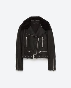 Image 8 of LEATHER EFFECT JACKET from Zara