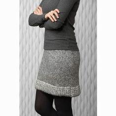 tricoter jupe femme