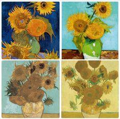 Kunstpostkarte Mädchen mit Sonnenblumen Diego Rivera
