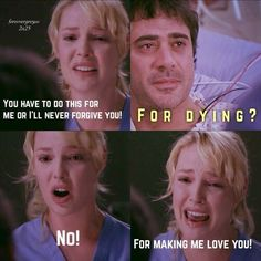 denny and izzy on grey's anatomy - - Yahoo Image Search Results Greys Anatomy Funny, Grays Anatomy Tv, Grey Anatomy Quotes, Greys Anatomy Izzie, Tv Show Quotes, Movie Quotes, Funny Quotes, Hurt Quotes, Izzie And Denny