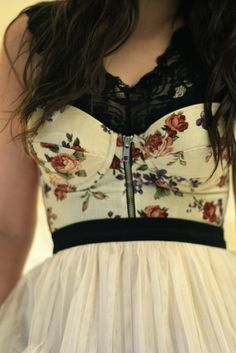 I love this floral print with the black lace...though I don't think i could get away with it lol