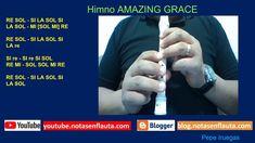 Notas en Flauta Himno AMAZING GRACE Amazing, Youtube, Flute, Report Cards, Sweet, Youtubers, Youtube Movies
