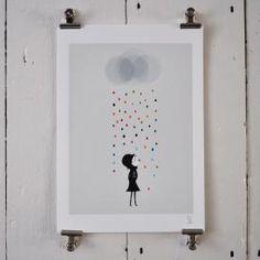 Mademoiselle Under The Rain by Blanca Gomez