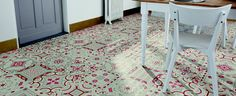 Sol vinyle imitation carreau de ciment Shalimar Rouge
