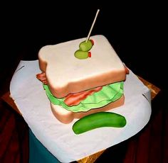 Ace of Cakes - one of Duff's masterpieces a cake that looks like a sandwich - genius