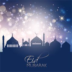 Eid Mubarak Celebrating Card Background http://www.cgvector.com/50-vector-graphics-eid-greeting-card-and-wallpaper/