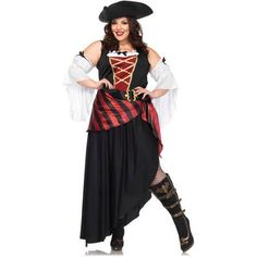 Pirate Wench Women's Adult Plus Size Halloween Costume - Walmart.com