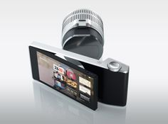 wvil concept camera (wireless viewfinder interchangeable lens) basically, you can detach the lens from the back and control the lens with your little touch screen. many lenses, one control center. such a good idea.