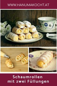 What would a typical Austrian pastry shop be without foam rolls? - What would a typical Austrian pastry shop be without foam rolls? Layered Desserts, Mini Desserts, Cuban Recipes, Wing Recipes, Mini Apple Pies, Choco Chips, Pastry Shop, Evening Meals, Mousse