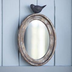 Petite Songbird Oval Mirror   Shop P. Allen