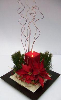 Resultado de imagen para arreglos de mesa navideños modernos #Arreglosfloralesparamesa