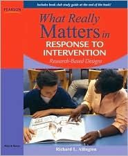 Book: What Really Matters in Response to Intervention