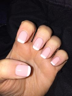 My new #shellac mani. Love the clean lines! #summer #frenchmanicure