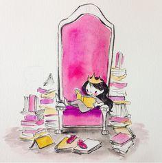 Illustration Girl, Girl Illustrations, Inktober, Instagram Posts, Books, Queen, Inspired, Chair, Saints