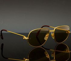 f0a4321ecbd3c Cartier Sunglasses ( Cartier Sunglasses (Men s Pre-owned Vintage Gold  Plated Aviator Paris Designer Sun Glasses)