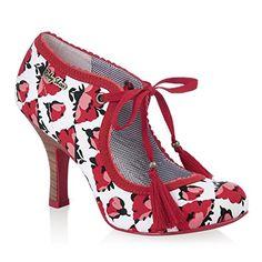 Ruby Shoo Tulipe en osier Hi Talons - Rouge - rouge, Ruby…